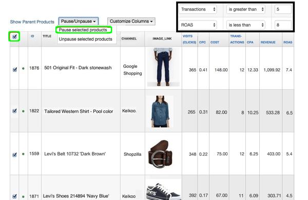 datafeedwatch-analytics-cost-data-remove-unprofitables-filter