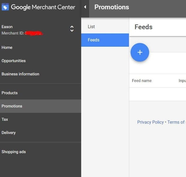 google_merchant_promotions_feed_hochladen