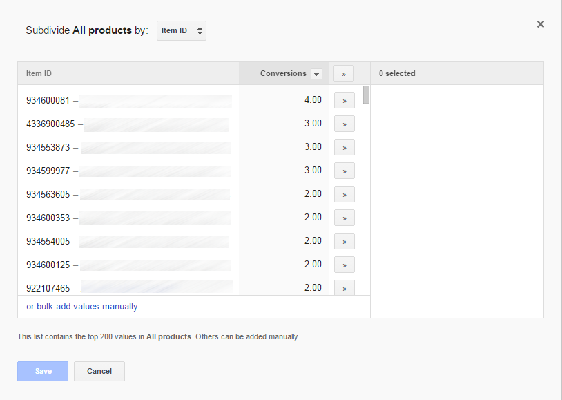 Shopping Campaign Create Product group Subdivide by ItemID Manual