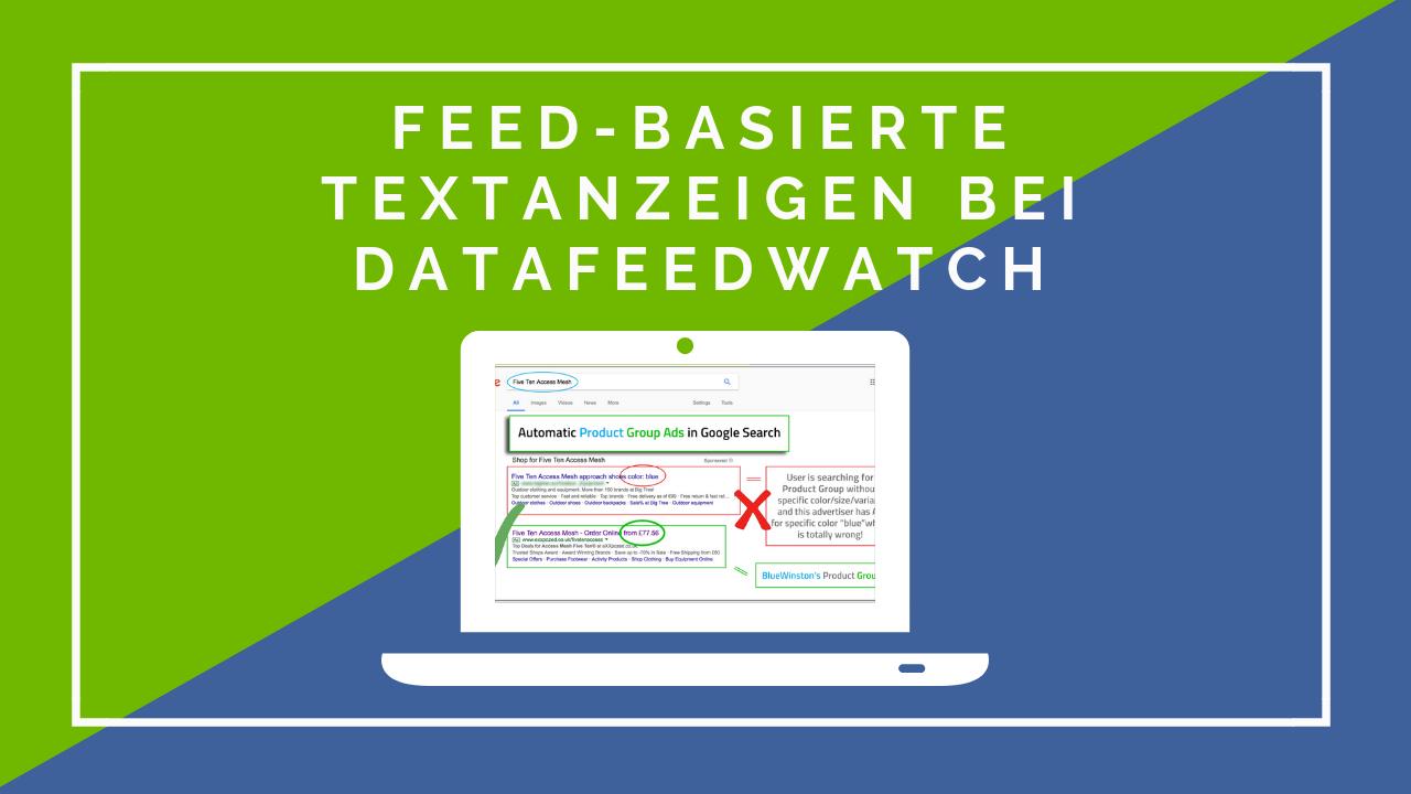 Feed-basierte Textanzeigen bei DataFeedWatch